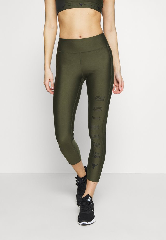 PROJECT ROCK WARRIOR CROP - Collants - guardian green/black