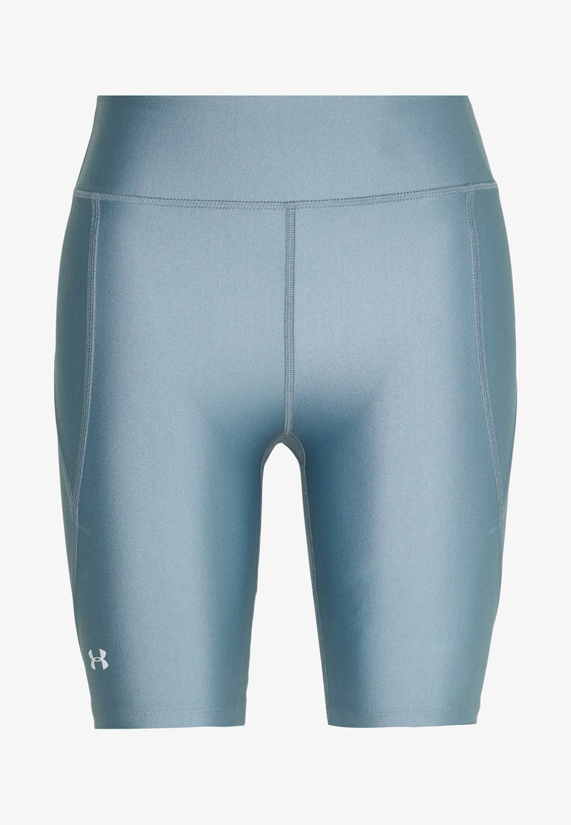 Under Armour - GRAPHIC BIKE SHORTS - Leggings - hushed turquoise/halo gray/halo gray