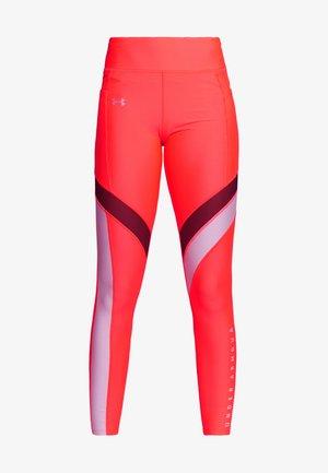 SPORT LEGGINGS - Leggings - red/halo gray/metallic silver