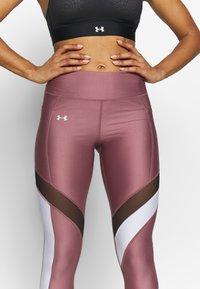Under Armour - SPORT LEGGINGS - Punčochy - hushed pink/white/metallic silver - 3