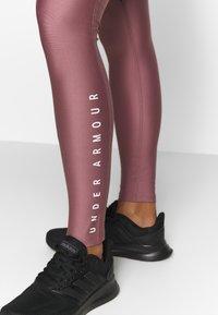 Under Armour - SPORT LEGGINGS - Punčochy - hushed pink/white/metallic silver - 5