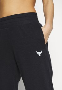Under Armour - PROJECT ROCK TERRY - Trainingsbroek - black full heather - 4