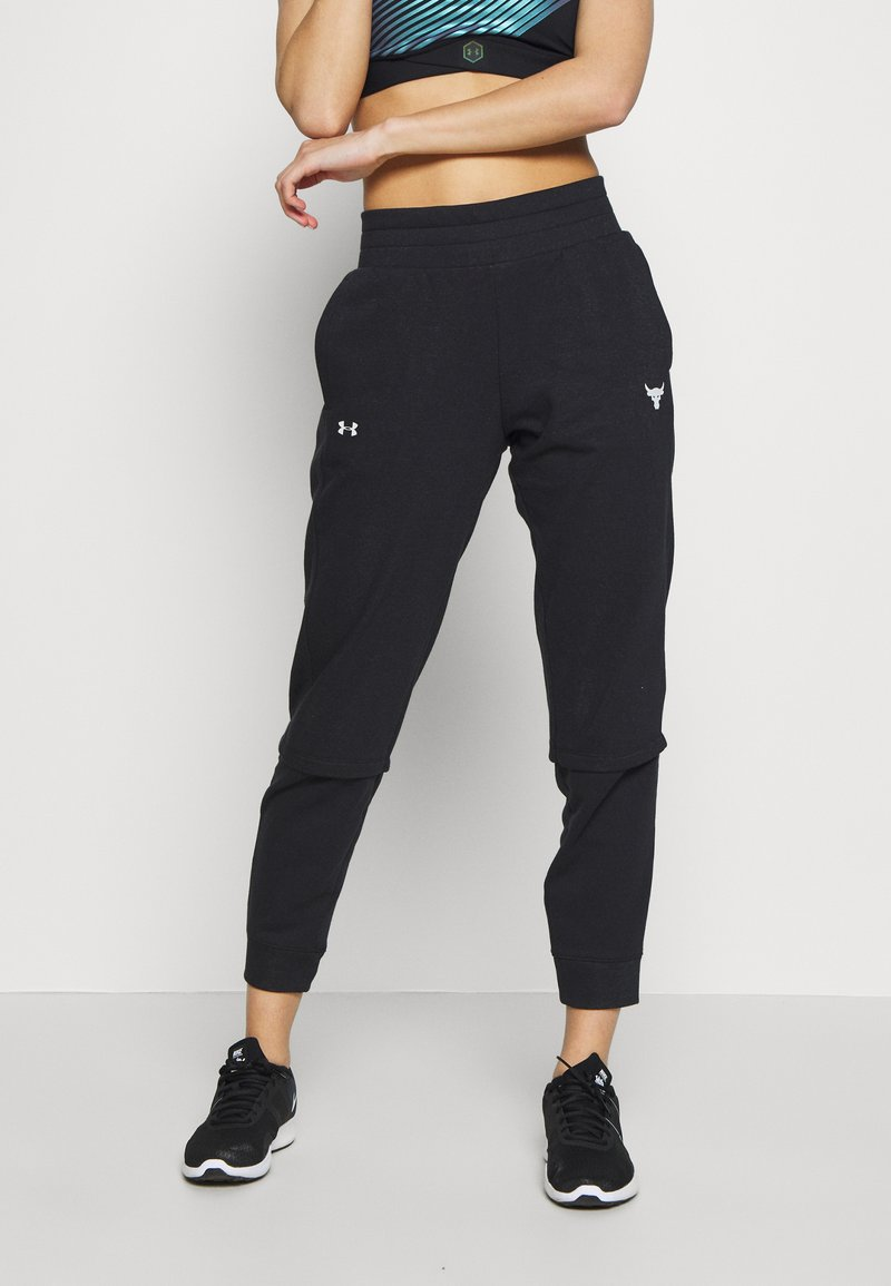 Under Armour - PROJECT ROCK TERRY - Trainingsbroek - black full heather