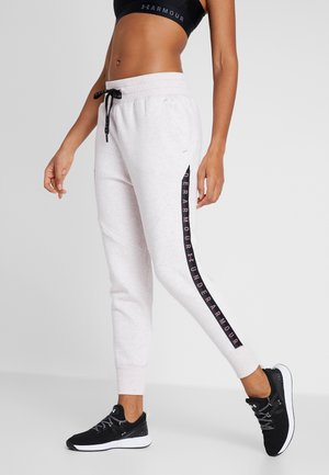 FLEECE PANT TAPED WM - Pantalon de survêtement - hushed pink medium heather/black