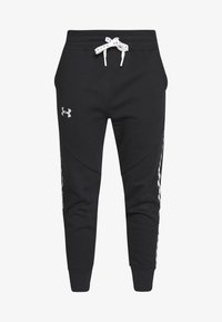 Under Armour - FLEECE PANT TAPED WM - Pantalones deportivos - black/onyx white - 3