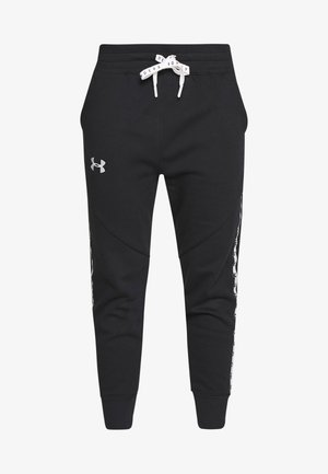 FLEECE PANT TAPED WM - Joggebukse - black/onyx white