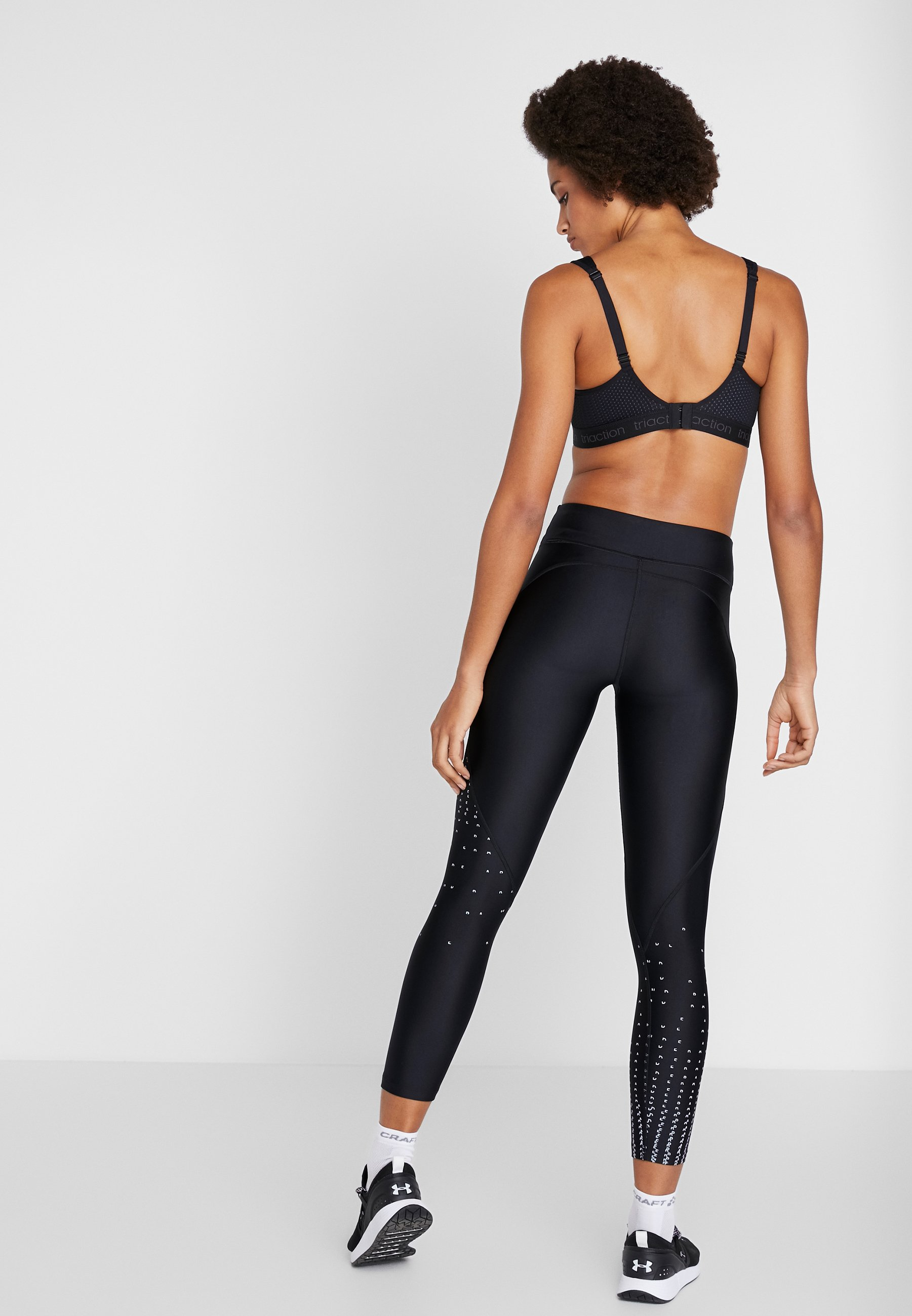 Under Armour IRIDESCENT ANKLE CROP - Legginsy - black