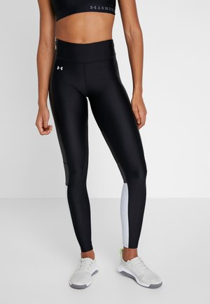 ARMOUR PERFORATION INSET LEGGINGS - Tights - black/halo gray