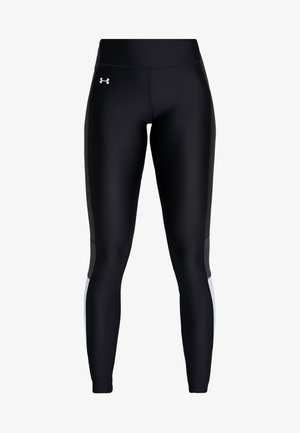 ARMOUR PERFORATION INSET LEGGINGS - Leggings - black/halo gray