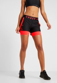 Under Armour - PLAY UP SHORTS - Pantalón corto de deporte - black - 0