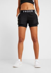 Under Armour - PLAY UP SHORTS - Korte sportsbukser - black/white - 0