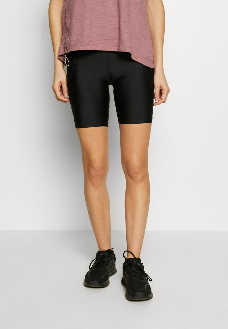 Under Armour - BIKE SHORTS - Leggings - black/metallic silver