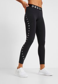 Under Armour - FAVORITE GRAPHIC LEGGING - Leggings - black/white - 0