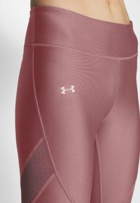 Under Armour - SHINE PERFORATION - Tights - hushed pink/dash pink - 4