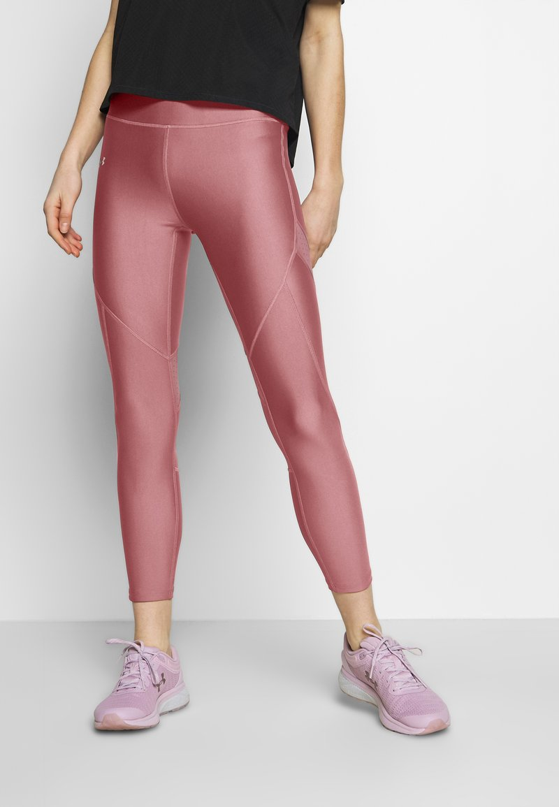Under Armour - SHINE PERFORATION - Tights - hushed pink/dash pink
