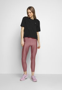 Under Armour - SHINE PERFORATION - Tights - hushed pink/dash pink - 1
