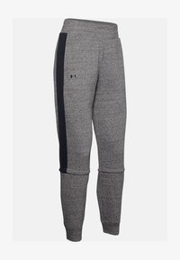 Under Armour - RIVAL TERRY  - Tracksuit bottoms - dark grey/black - 3