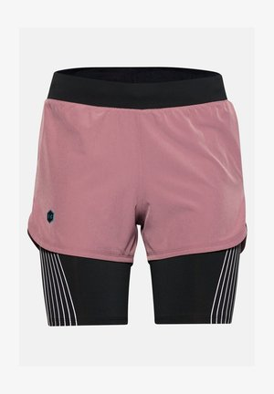W UA RUSH RUN 2-IN-1 SHORT - Sports shorts - hushed pink