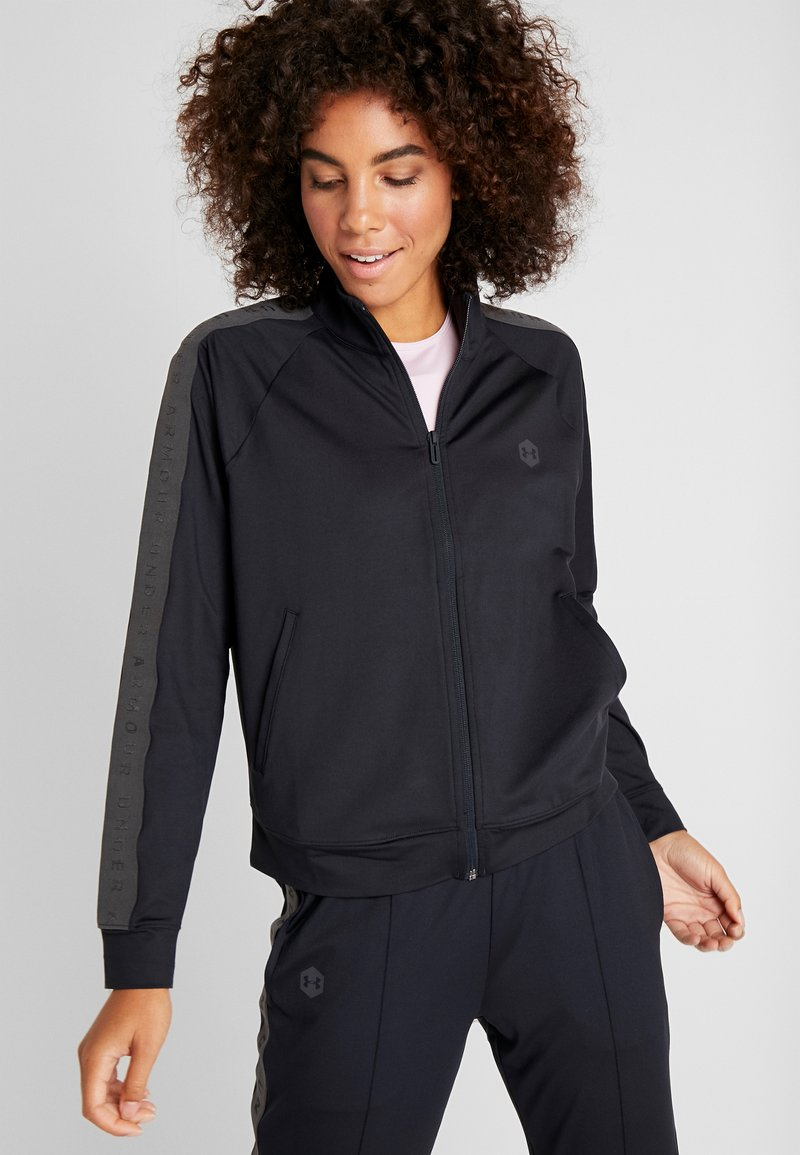 Under Armour - ATHLETE RECOVERY TRAVEL JACKET - Træningsjakker - black/jet gray
