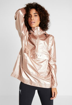 UNSTOPPABLE BEST 1/2 ZIP ANORAK - Giacca sportiva - blush beige/black