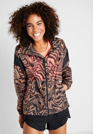 PERPETUAL STORM PRINT - Training jacket - uptown brown/black/metallic cristal gold