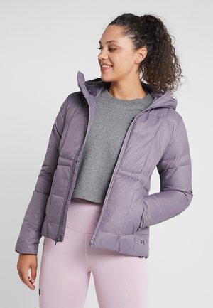 HOODED - Down jacket - flint/nocturne purple