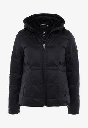 HOODED - Gewatteerde jas - black/jet gray