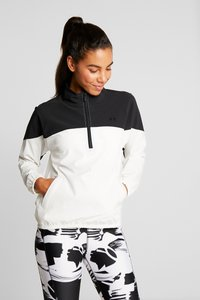 Under Armour - WOVEN ANORAK - Träningsjacka - onyx white/black - 0