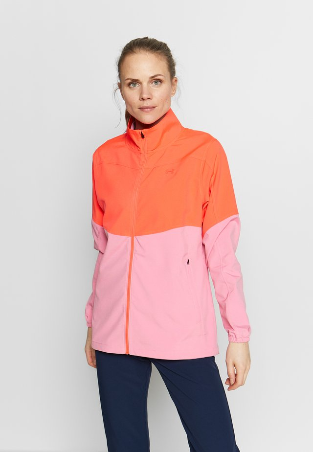 UA WINDSTRIKE FULL ZIP - Veste imperméable - beta/lipstick