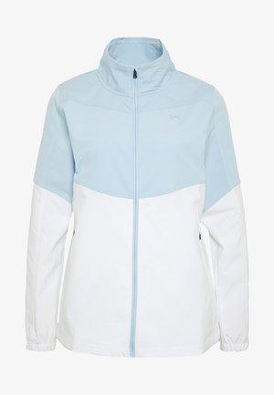 UA WINDSTRIKE FULL ZIP - Vodotěsná bunda - white/blue frost