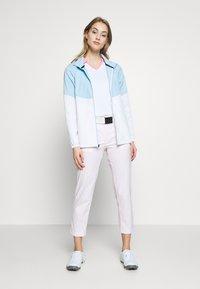 Under Armour - UA WINDSTRIKE FULL ZIP - Waterproof jacket - white/blue frost - 1