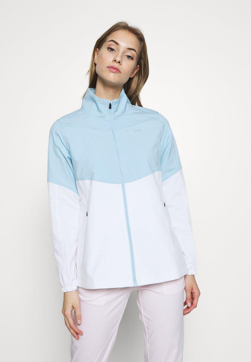 Under Armour - UA WINDSTRIKE FULL ZIP - Waterproof jacket - white/blue frost