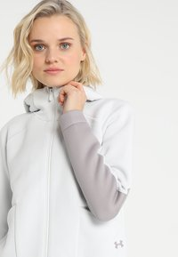 Under Armour - MOVE - Hoodie met rits - white - 4