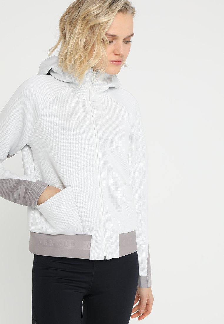 Under Armour - MOVE - Hoodie met rits - white