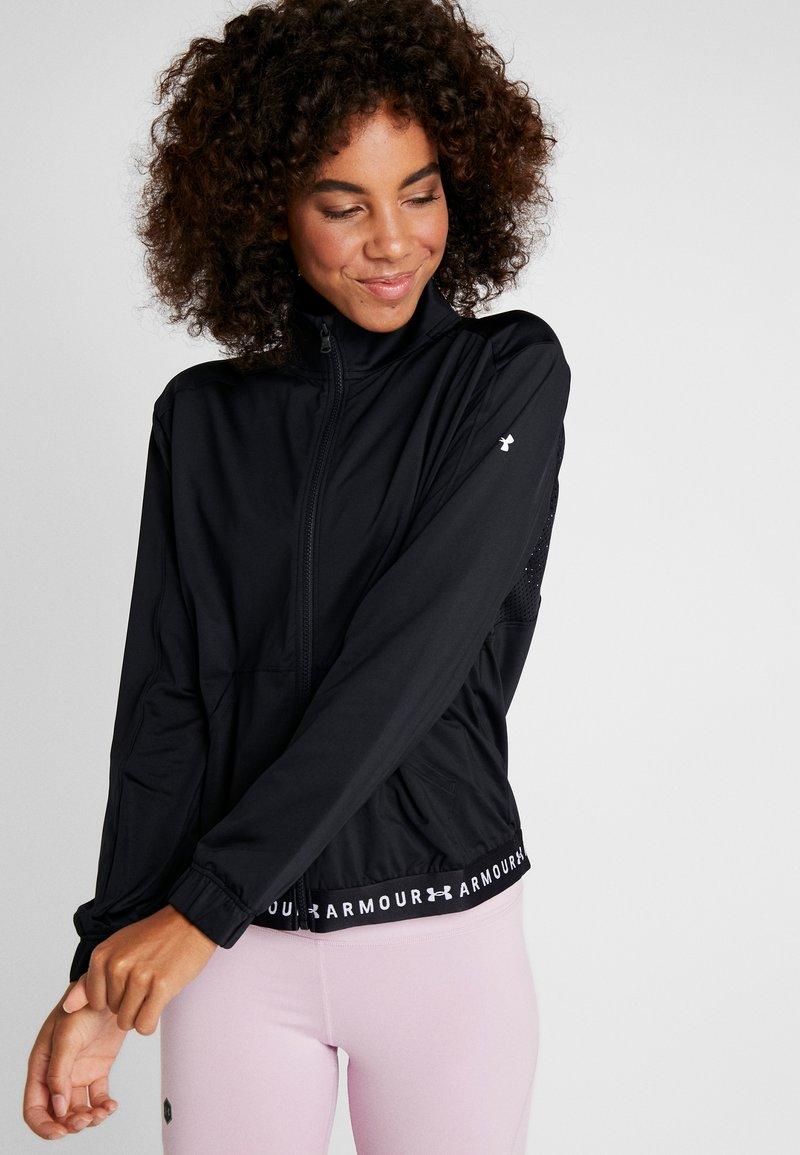 Under Armour - FULL ZIP - Training jacket - black/white