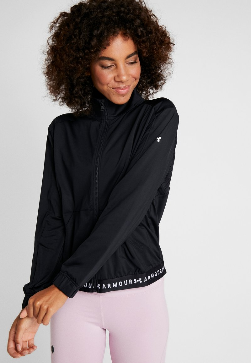 Under Armour - FULL ZIP - Training jacket - black/white