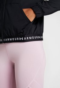 Under Armour - FULL ZIP - Training jacket - black/white - 4