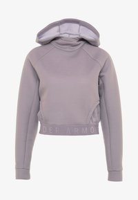 Under Armour - UNSTOPPABLE MOVE LIGHT CROP HOOD - Hoodie - purple prime - 4