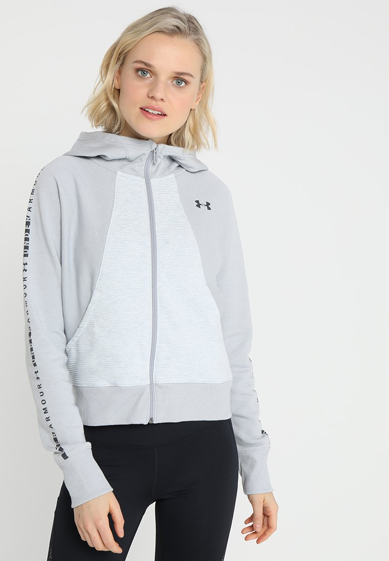 Under Armour - OTTOMAN GRAPHIC - Sweatjacke - mod grey light heather/jet grey