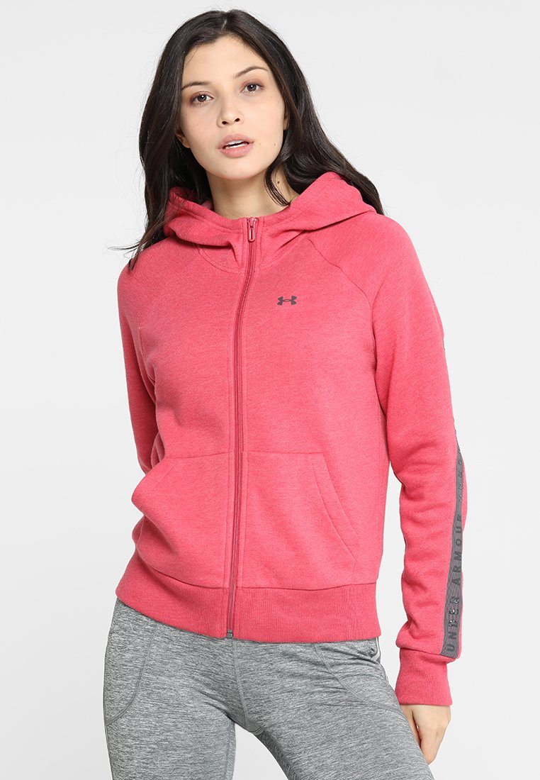 Under Armour - TAPED - Sweatjacke - impulse pink/onyx white/ash taupe
