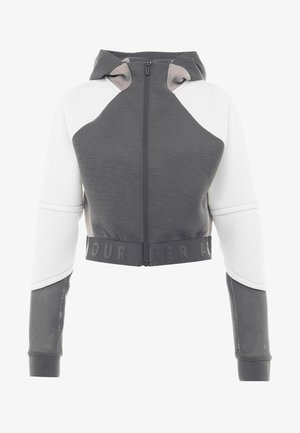 UNSTOPPABLE MOVE LIGHT HOOD - Zip-up hoodie - pitch gray/onyx white/tetra gray