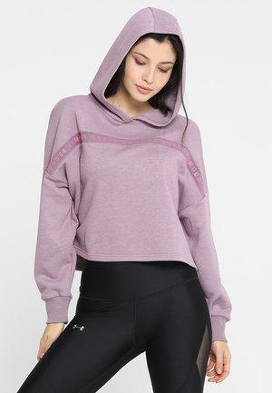 TAPED HOODIE - Bluza z kapturem - purple prime/mojo pink