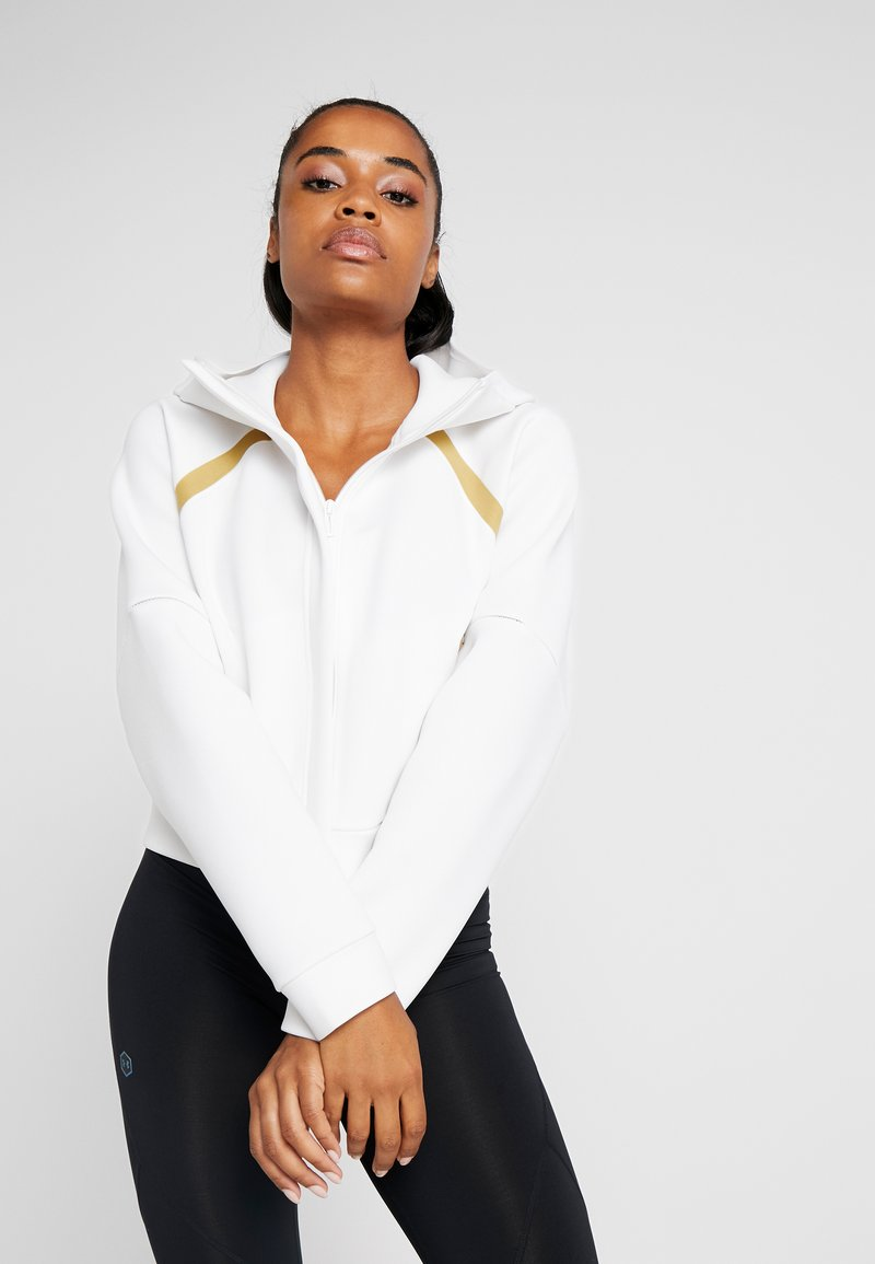 Under Armour - MISTY SIGNATURE SPACER FULL ZIP - Sweatjacke - onyx white/palm green