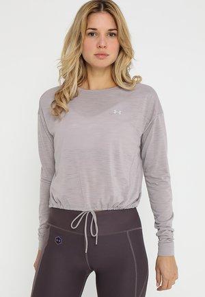 WHISPERLIGHT CROPPED COVER UP - Treningsskjorter - tetra gray/tetra gray/tonal