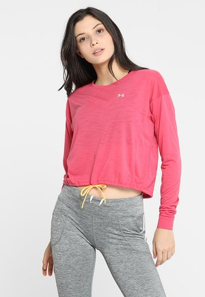 WHISPERLIGHT CROPPED COVER UP - Sports shirt - impulse pink/mango orange/tonal