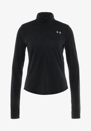STREAKER HALF ZIP - Sports shirt - black/black
