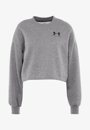 RIVAL GRAPHIC CREW - Sweatshirt - jet gray medium heather/black