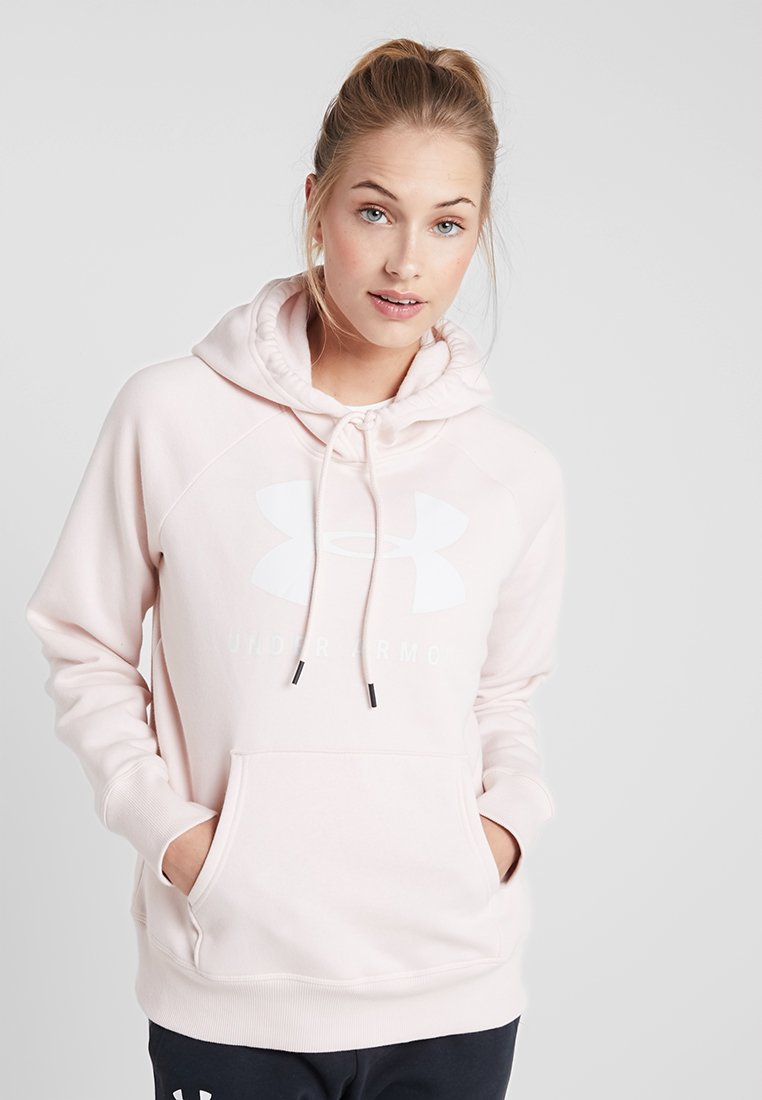 Under Armour - RIVAL SPORTSTYLE GRAPHIC HOODIE - Jersey con capucha - apex pink/onyx white