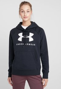 Under Armour - Felpa con cappuccio - black/onyx white - 0