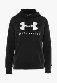 Under Armour - Felpa con cappuccio - black/onyx white - 5